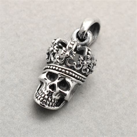 skull for jewelry 925 sterling silver king skull pendant callvogue
