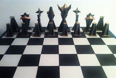 how to make origami chess pieces origami chess on behance