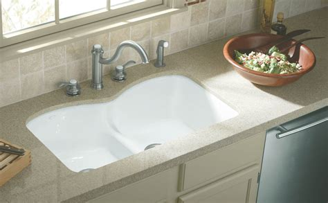 install undermount kitchen sink kohler k 6626 6u 0 langlade smart divide undercounter