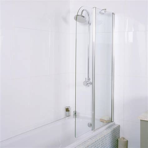bath folding shower screens angled bath screen showers