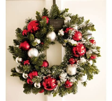 pictures of wreaths decorated 15 wreath ideas for 2010 by potterybarn