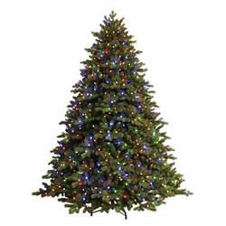 dual color tree ge 7 5 ft just cut ez light spruce c3 dual color