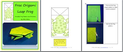 origami frog printable blogfish free printable origami frog pattern for