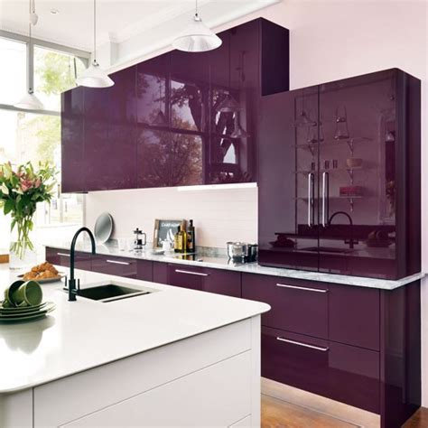purple kitchen designs purple and white kitchen gloss kitchen ideas 10 ideas