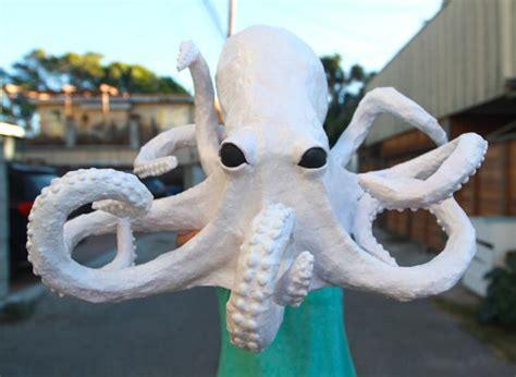 how to make paper mache crafts creepy paper mache octopus craft tutorial