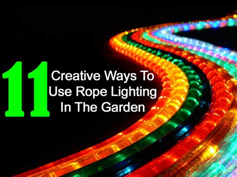 landscape rope lighting 11 creative ways to use rope lighting in the garden