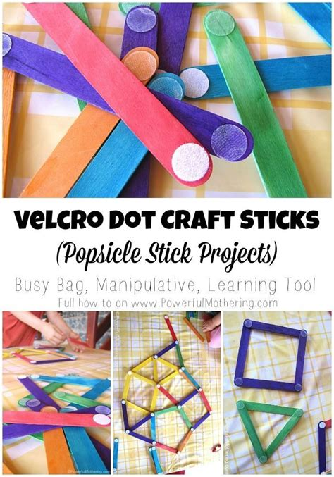 easy craft stick projects velcro dot craft sticks popsicle stick projects velcro