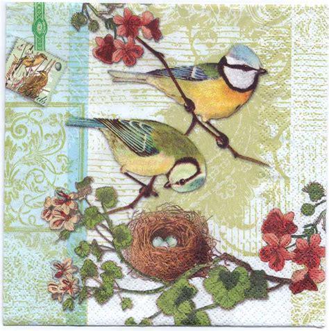 bird decoupage paper decoupage paper napkins of bird family with bird nest