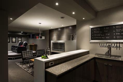 Houzz Basement Ideas by Basement Brewery Bar Home Theater Contemporary