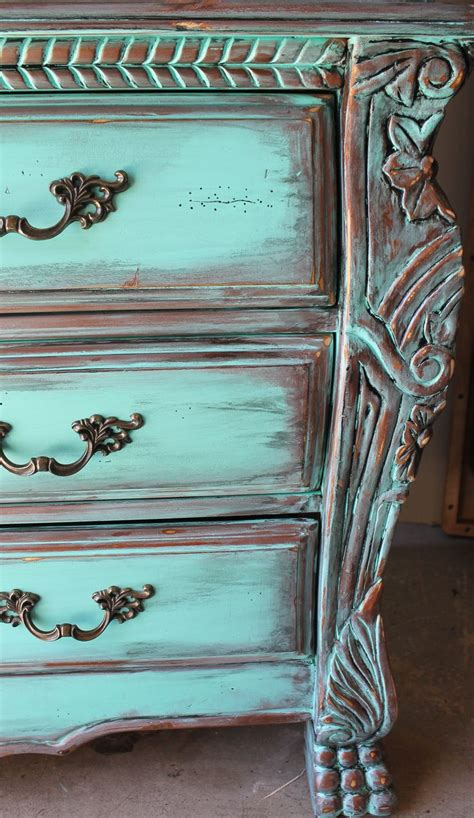 chalk paint turquoise 25 best ideas about distressed turquoise furniture on