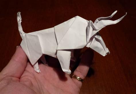origami bull 405 no bull setting the crease
