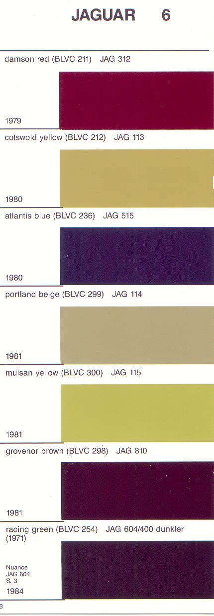 paint colors for jaguar clickchart to enlarge that half of chart