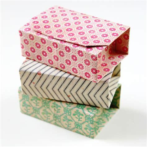 diy origami box rectangular diy origami boxes gathering