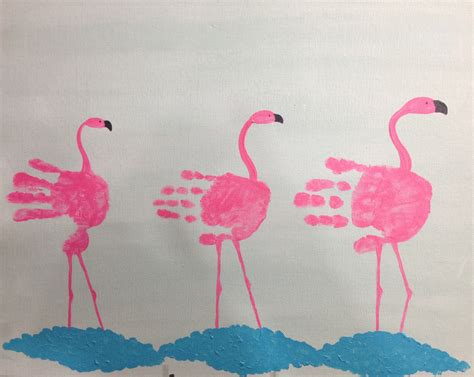 flamingo craft projects handprint flamingos our child gallery can paint 2