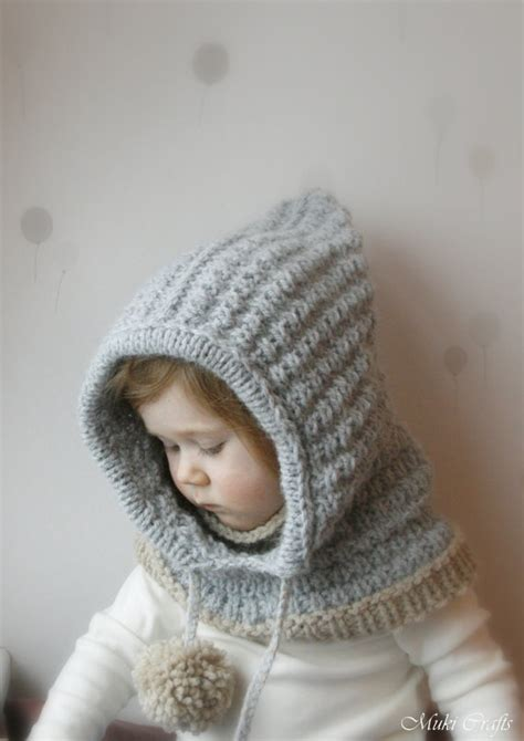 hooded cowl knitting pattern hooded cowl pdf knitting pattern for baby toddler