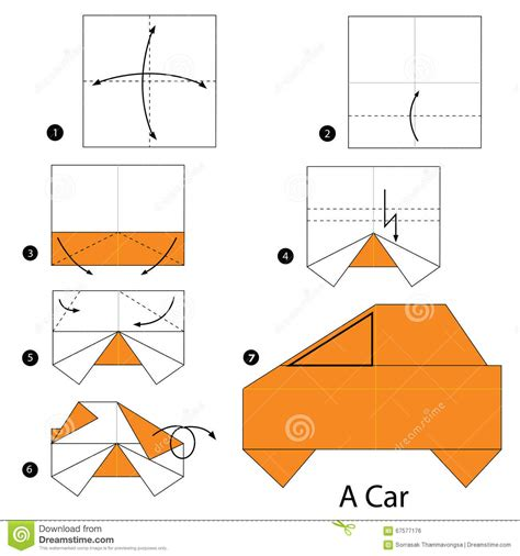 how to make a origami car step by step how to make origami a car stock