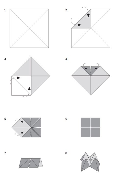how to fold origami fortune teller paper folding crafts fortune
