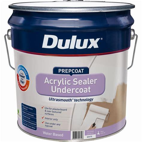 acrylic paint sealant dulux prepcoat 15l white acrylic sealer undercoat