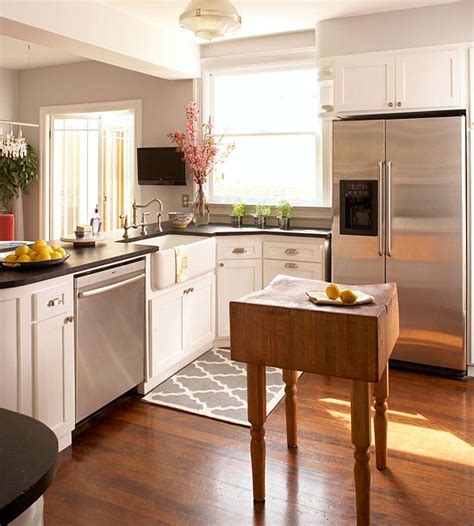 small island kitchen small space kitchen island ideas bhg
