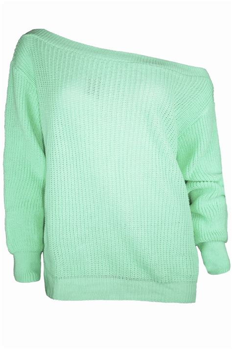 chunky knit jumper womens the shoulder chunky knitted oversized jumper