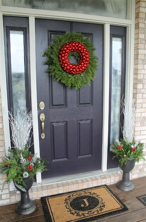 how to decorate your front door for how to decorate your front door for the holidays the
