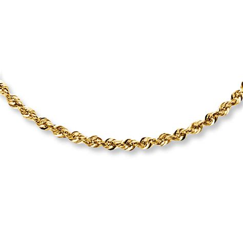 rope jewelry rope necklace 14k yellow gold 24 quot length