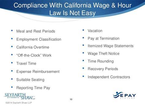 don t sweat california labor law