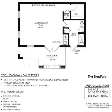 pool house plans free bradford pool house floor plan guest house