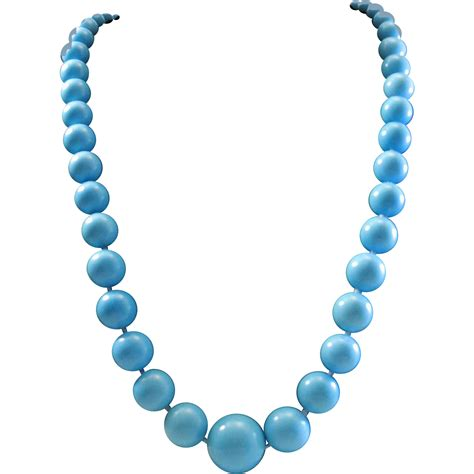 sleeping turquoise bead necklace perfection in blue 18k sleeping turquoise 9 5 17mm