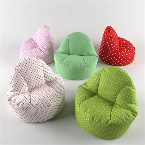 Pouf Bean Bag Chairs by Bean Bag Chair Pouf 3d Model Rigged Max Fbx Cgtrader