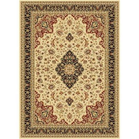 area rugs home depot 5x8 tayse rugs century ivory 5 ft 3 in x 7 ft 3 in