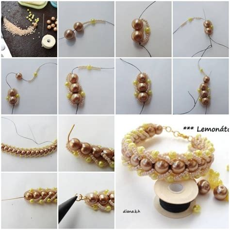 step by step jewelry how to make and pearls bracelet step by step diy