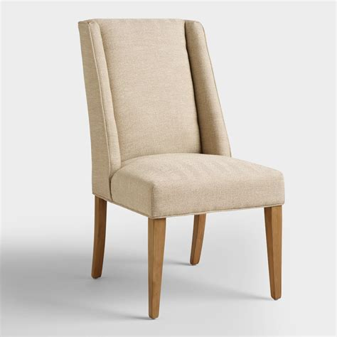 dining chairs world market khaki herringbone lawford dining chairs world market