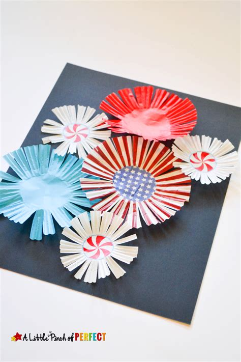 paper fireworks crafts cupcake liner fireworks craft for to celebrate the