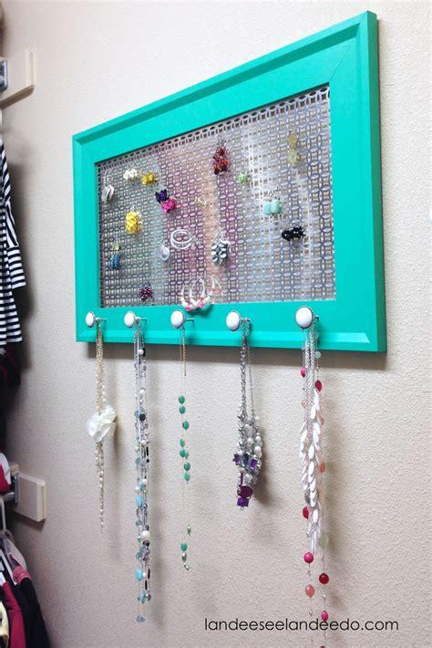 make jewelry organizer diy jewelry organizer landeelu