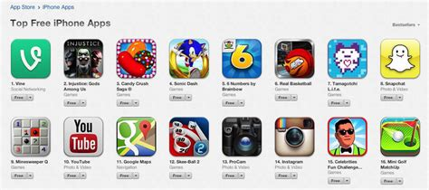 free app vine tops list of free iphone apps in app store