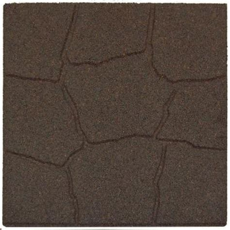 rubber st one day service envirotile 18 in x 18 in flagstone earth rubber paver