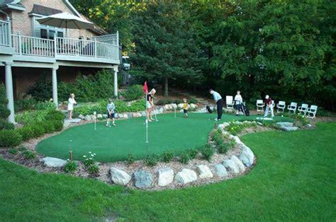 backyard mini golf make backyard golf course outdoortheme