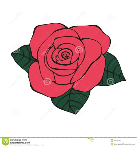 rose in tattoo style stock vector image 55250167