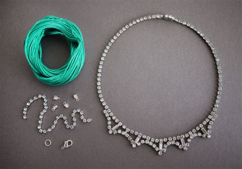 how to make rhinestone jewelry diy braided rhinestone necklace