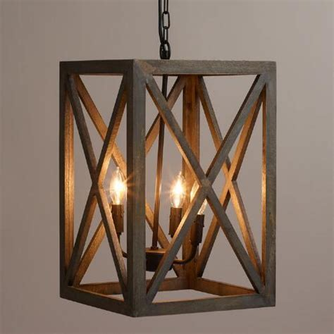chandelier iron gray wood and iron valencia chandelier