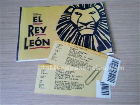 imprimir entradas rey leon tabl 211 n de anuncios vendo 2 entradas para el musical rey