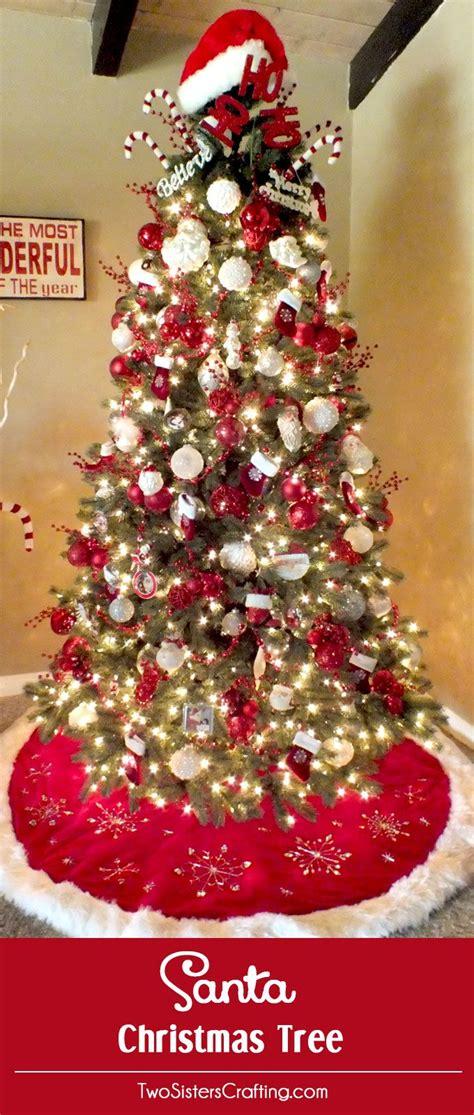 santa themed trees 20 best tree ideas images on