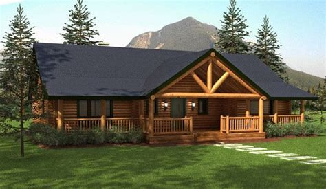 ranch style homes hickory log home floor plans home home log