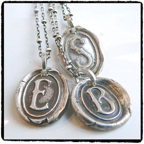 how to make wax seal jewelry 17 best images about wax seal initial pendants on