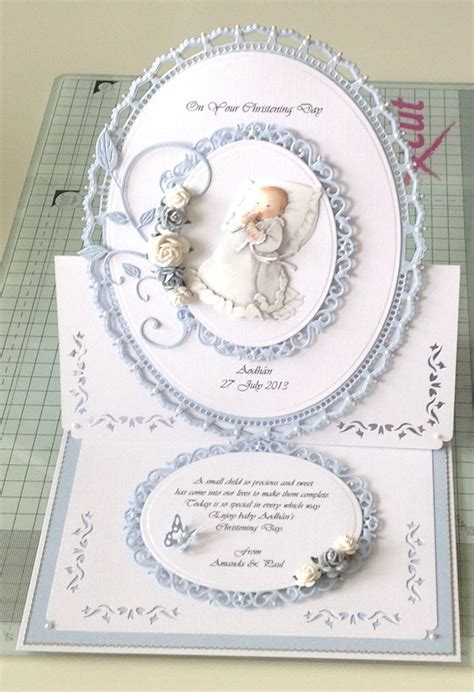 how to make a baptism card christening card christening