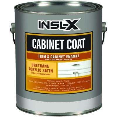 home depot paint for trim cabinetcoat 1 qt white satin trim and cabinet enamel