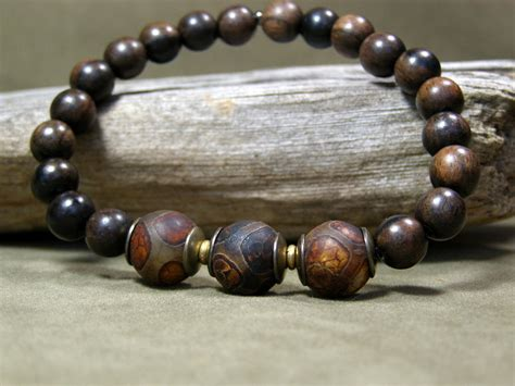 mens wooden beaded bracelets mens beaded bracelet wood bracelet mens jewelry mens