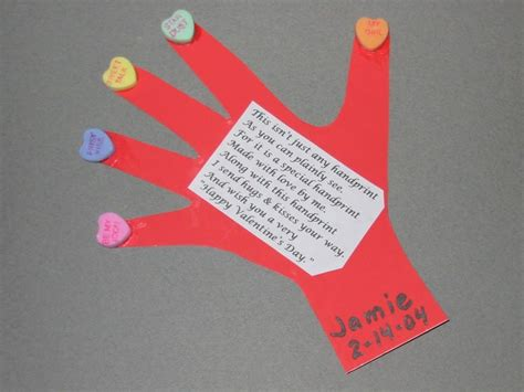 Handprint Thumbprint Valentines Ideas Handprint