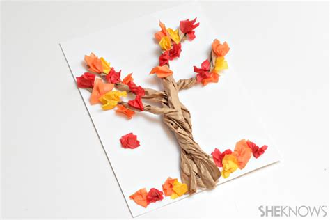 paper bag tree craft 4 paper bag crafts for fall